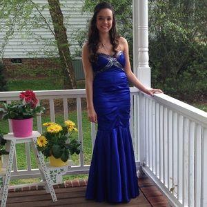 Fiesta Blue Mermaid style Size Small Prom Dress